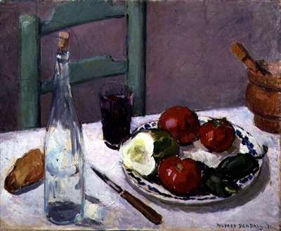 Still Life with Tomatoes and Sweet Peppers, 1931 (oil on canvas)
