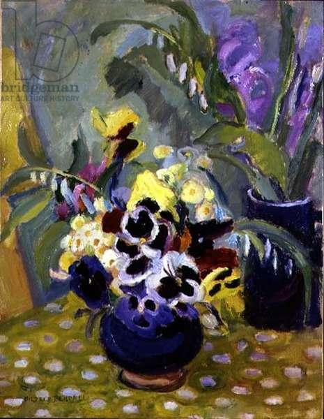 Vase of Pansies (oil)