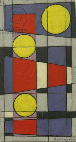 Composition, 1956 (oil on oak)