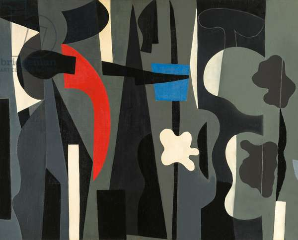 Geometrical Composition, 1952 (oil on canvas)