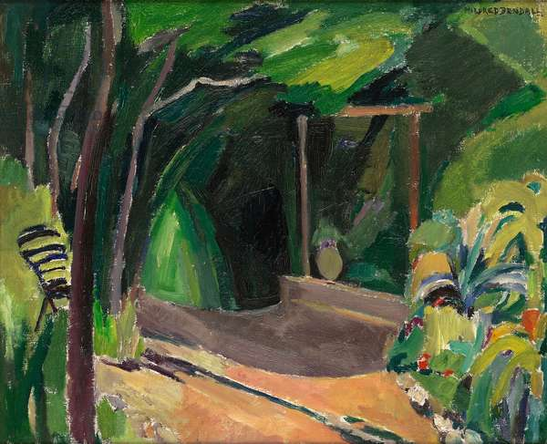 Un coin de jardin, c.1940 (oil on canvas)