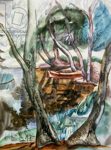 Landscape, c.1935 (w/c on paper)