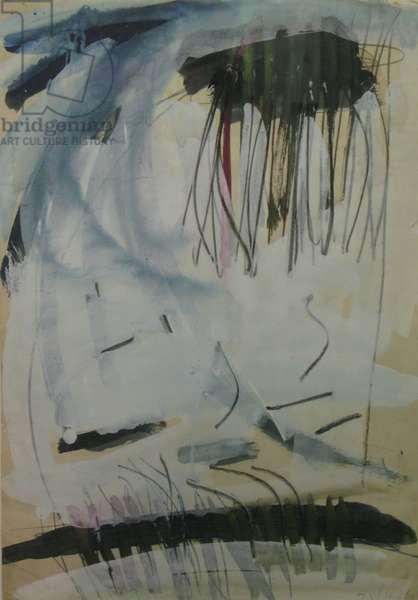 Composition 1, 1960 (gouache on paper)