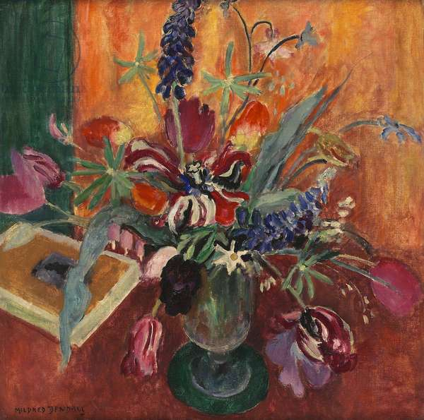 Lupins and tulips, c.1925 (oil on canvas)