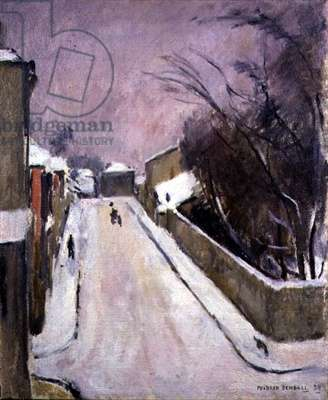 Village Street in the Snow, 1938 (oil on canvas)
