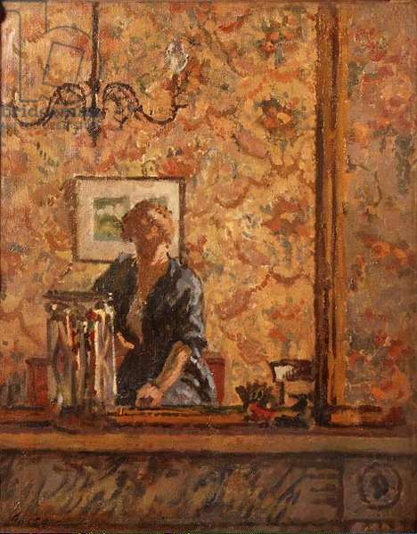 Woman in an Interior (oil on canvas)
