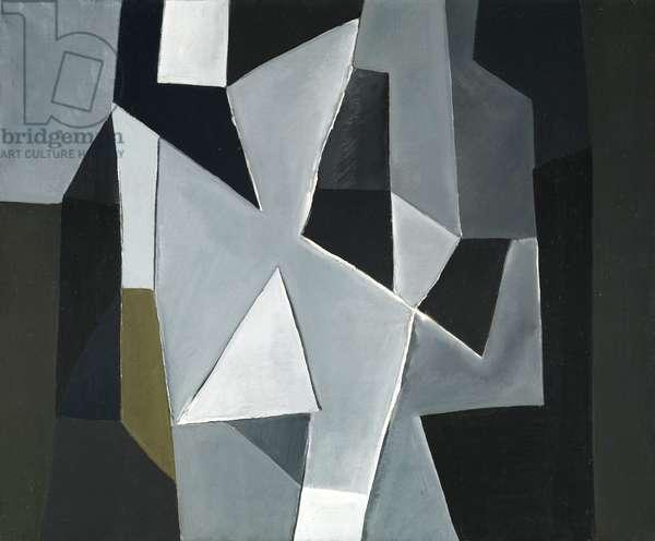 Architectonic Composition, 1955 (oil on canvas)