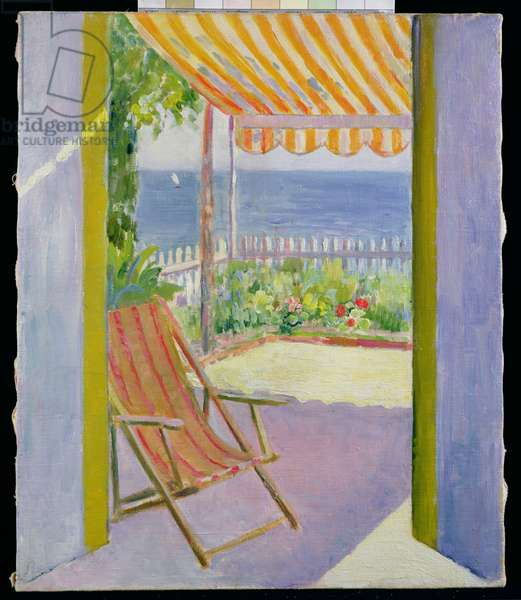 The Terrace, D'Arcachon (oil on canvas)