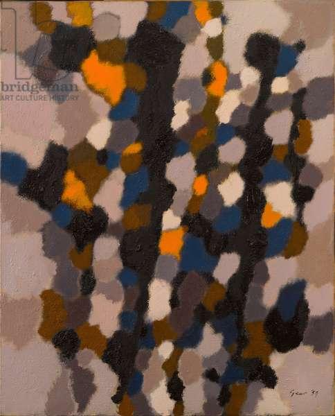 Landscape, Blue Element, 1959 (oil on canvas)