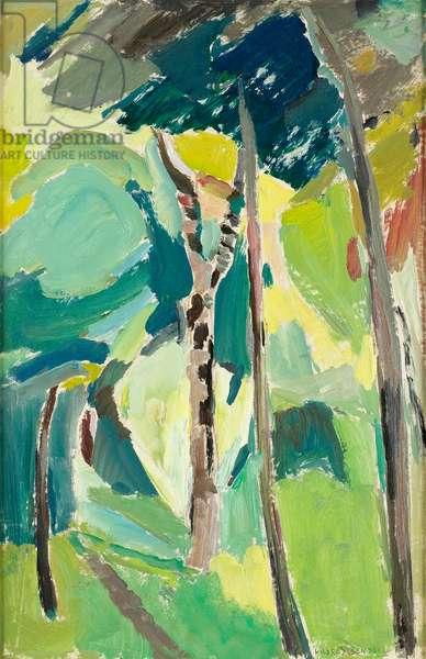 Allée Sous-Bois, c.1930 (oil on panel)