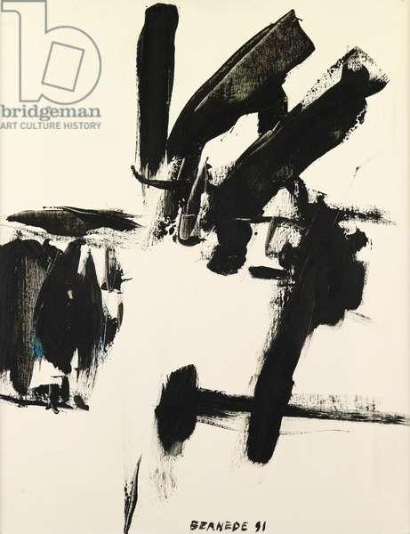 Composition 91, 1991 (oil on canvas)