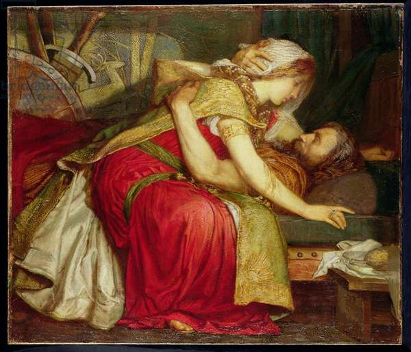 The Death of Tristram, 1902 (oil on canvas)