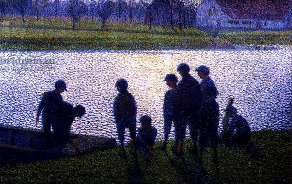 The Schoolboys, 1917 (oil on canvas)