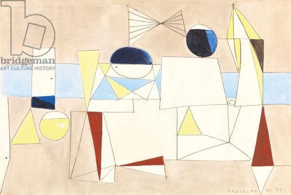 Composition 49.XI.30, 1949 (gouache & pencil on paper)