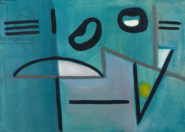 Blue Abstract, 1949 (oil on canvas)
