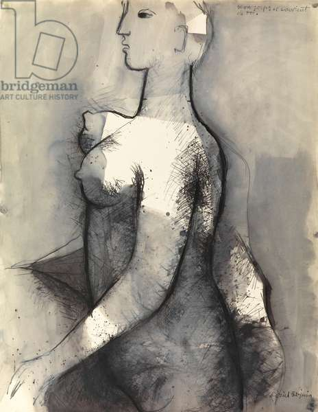 Mon corps se souvient de toi, 1952 (ink & wash on paper)