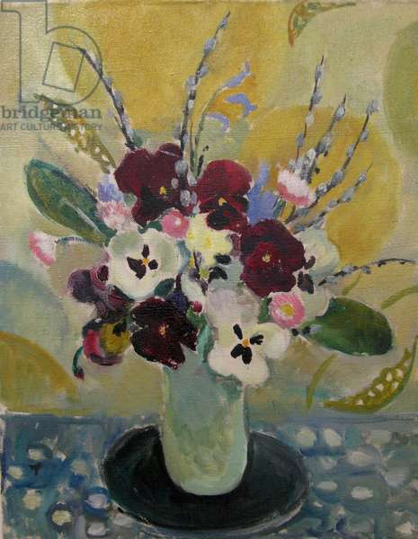 Still life with pansies, c.1930 (oil on canvas)