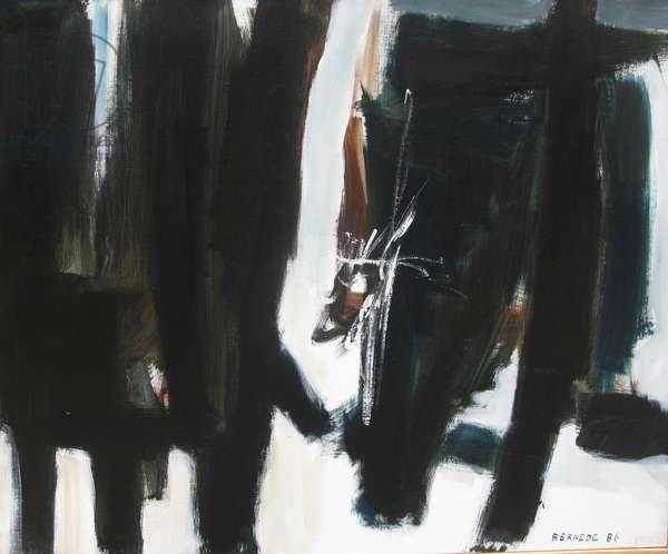 Composition 86-78, 1986 (oil on canvas)