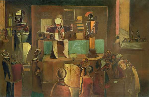 Cubist Museum, c.1930 (oil on canvas)