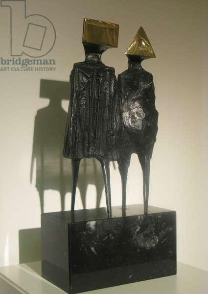 Maquette VI - Walking Couple, 1976 (bronze)