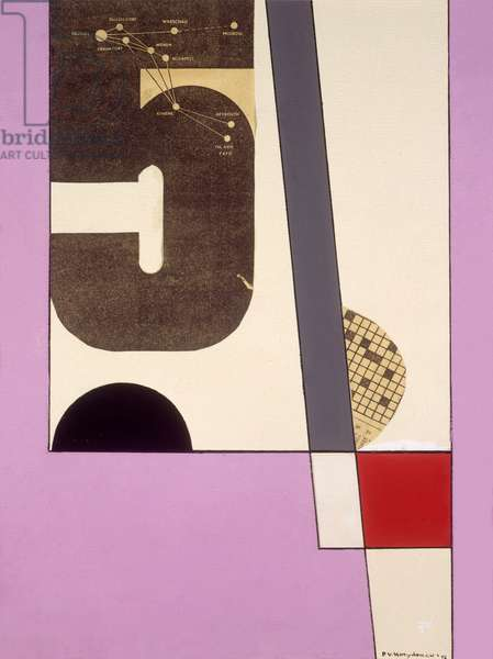 Composition, 1956 (gouache and collage on paper)