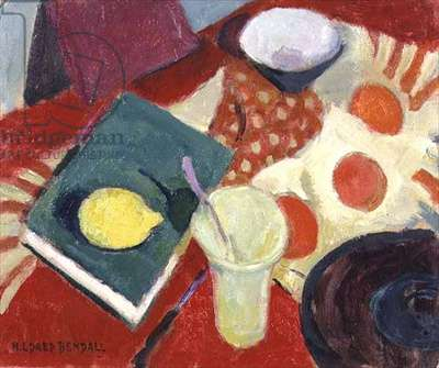 Still Life with Lemon and Book