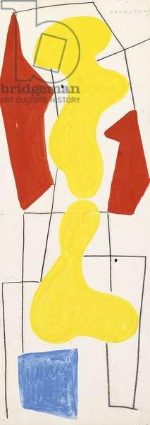 Composition XII - 49, 1949 (gouache)