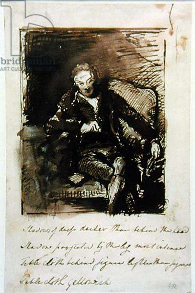 Study for a portrait of William Wilberforce (1759-1833) 1824 (pen and ink on paper)