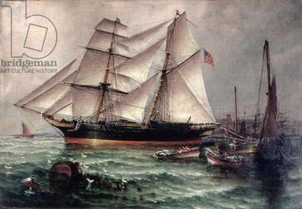 The Life of the Slaver 'Orange Grove' - Leaving Sunderland Harbour (oil on canvas)