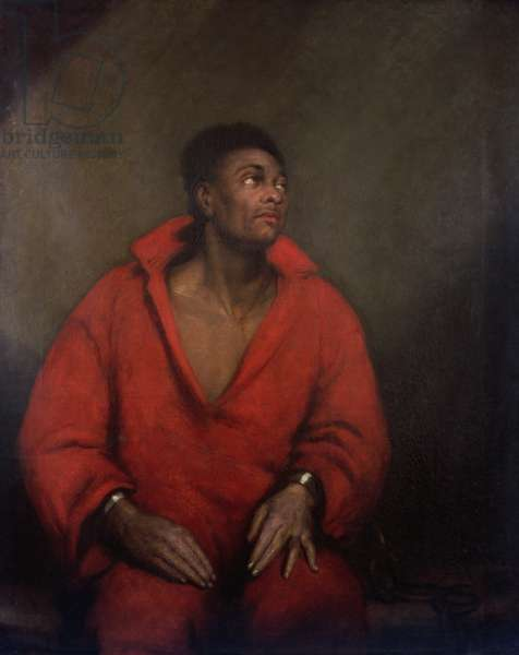 Portrait of a Slave in Chains (oil on canvas)