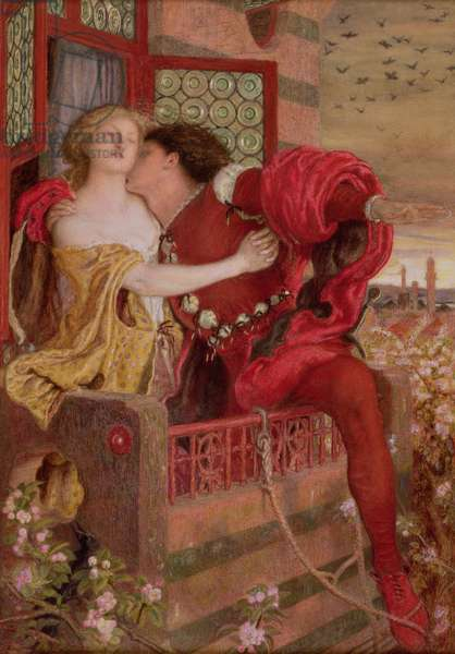 Romeo and Juliet, 1867 (w/c & bodycolour on paper) (see also 120719)