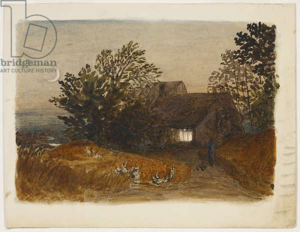 The Cottager's Return, c. 1833 (pencil & w/c)