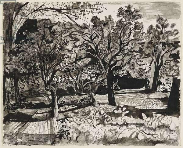 Study of Trees, 1946-47 (pen & ink, black chalk)