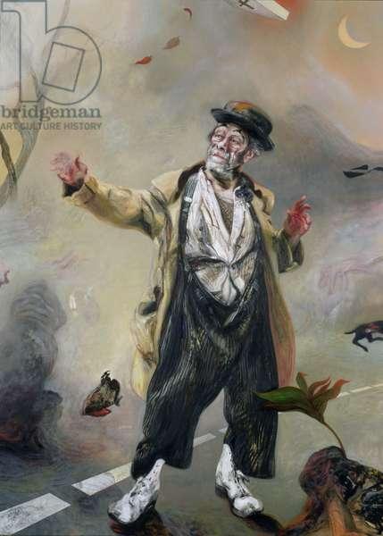 Max as Godot's Vladimir (gouache on paper)