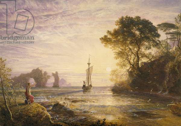 Calypso's Island, Departure of Ulysses, or Farewell to Calypso, 1848-49 (w/c & bodycolour on paper)
