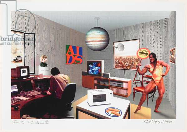Just what is it that makes today's homes so different?, 1993 (laser printing on paper)