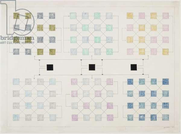 Orientation Drawing No. 2, December 1968 (pencil & crayon on paper)