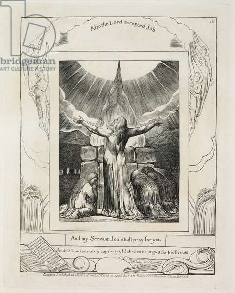 Illustrations of The Book of Job: Job's Sacrifice, 1825 (line engraving on paper)