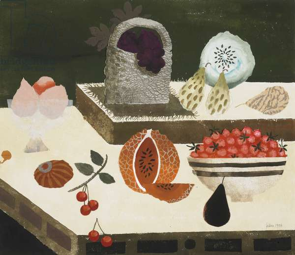 Still Life, 1998 (w/c, gouache & collage on paper)