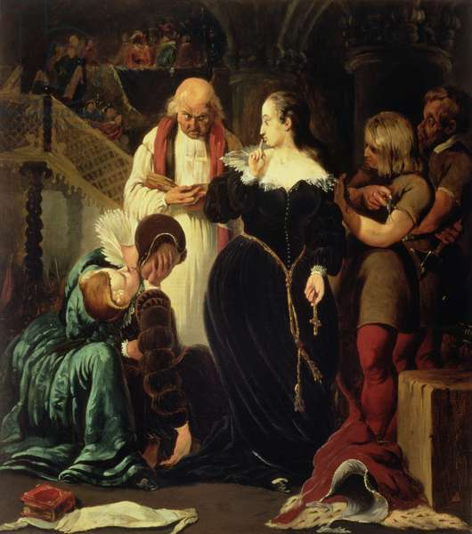Execution of Mary, Queen of Scots (1542-87), 1840 (oil on canvas)