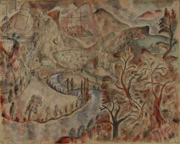 Montes et Omnes Colles, 1928 (pencil, w/c & bodycolour)
