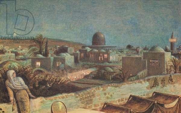 Jerusalem during Ramazan, 1854 (watercolour and bodycolour)