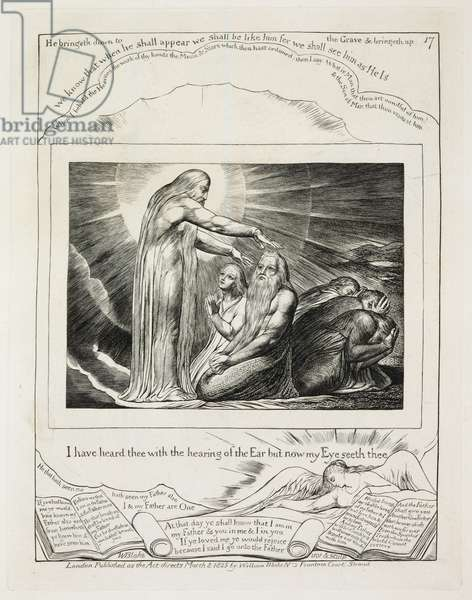 Illustrations of The Book of Job: The Vision of God, 1825 (line engraving on paper)