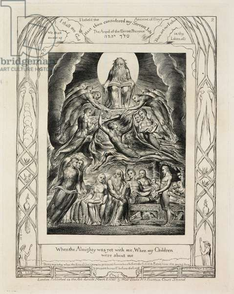 Illustrations of The Book of Job: Satan Before The Throne of God, c.1825