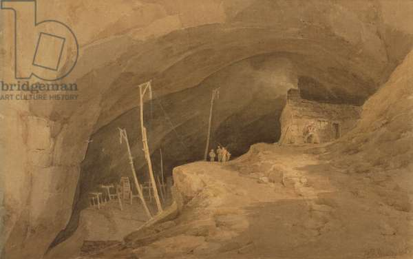 The Peak Cavern, Derbyshire, 1803 (w/c on paper)
