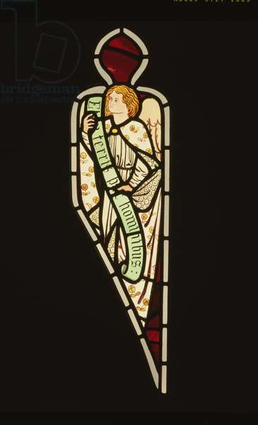 Angel from the chancel east window, Bradford Cathedral (stained glass)