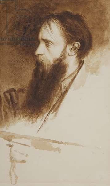 Portrait of Edward Burne-Jones (w/c on paper)