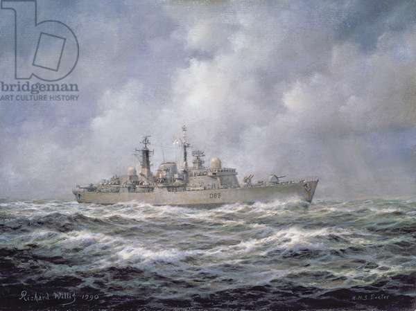 H.M.S. Exeter, Type 42 (Batch 2) Destroyer, 1990