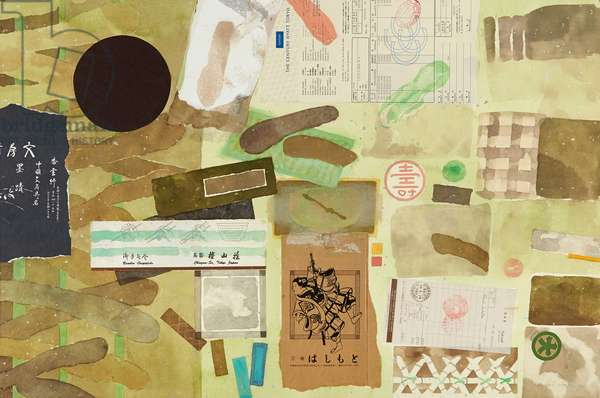 Japanese Journey II (w/c & collage on paper)