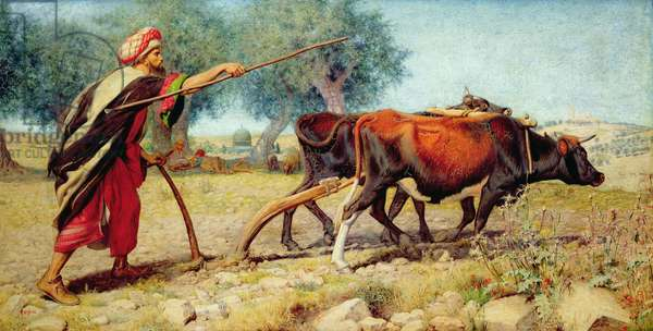 Ploughing, Mt. Sion, 1863 (oil on canvas)